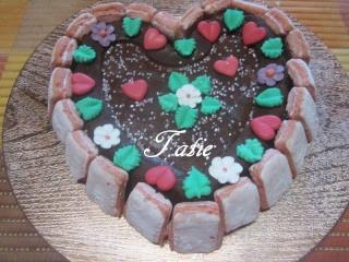 Gâteau St Valentin.chocolaté et pomme. 12669710