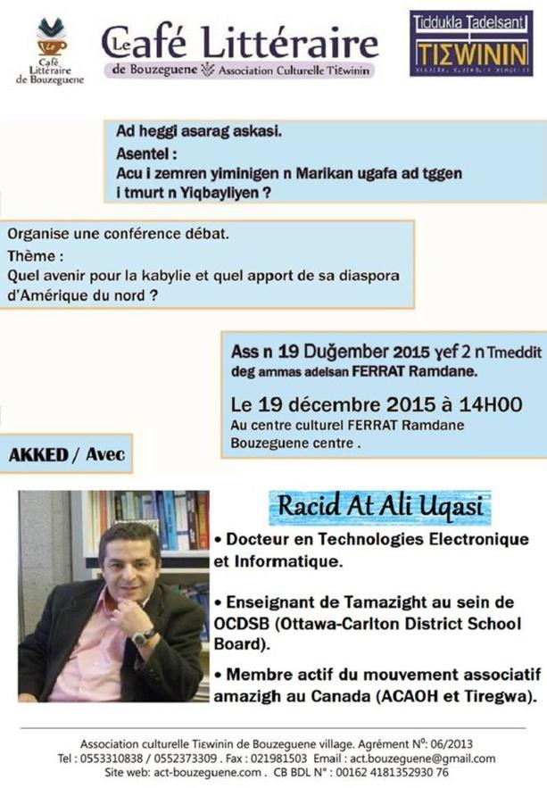 L'Algérie interdit une conférence sur l'avenir de la Kabylie à Bouzeguène Aq10