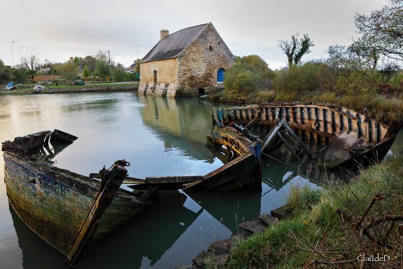 Le Moulin de Pomper à Baden (56) Moulpo11
