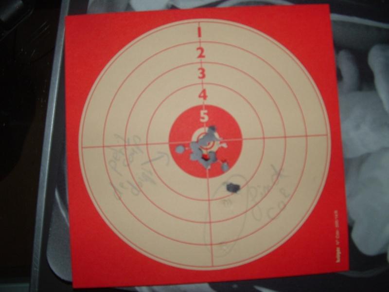 Mes 1er carton avec ma première carabine .... Dscf0013