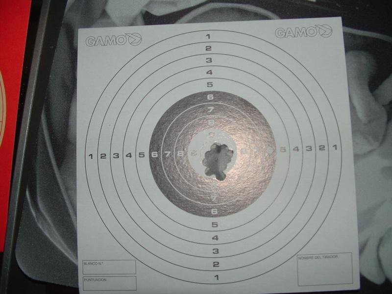 Mes 1er carton avec ma première carabine .... Dscf0014