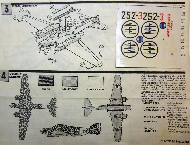 [Airfix] Savoia-Marchetti SM-79 vintage de 1967 - 1/72 Sm79-015