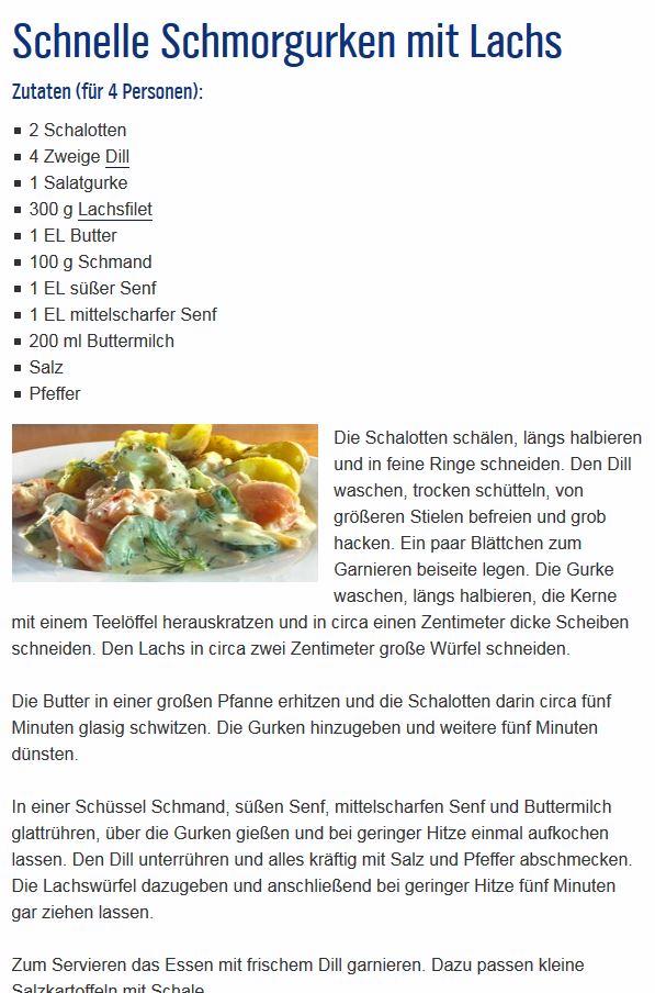 Schnelle Schmorgurken mit Lachs Rezept10