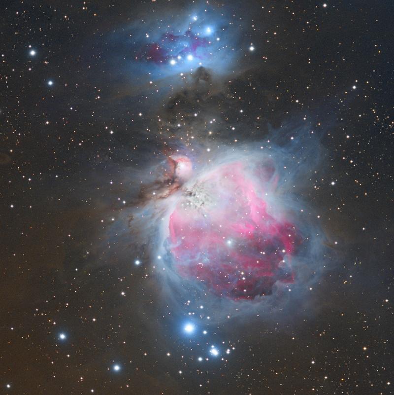 M42 Nébuleuse d'Orion en HaRVB M42rvb10