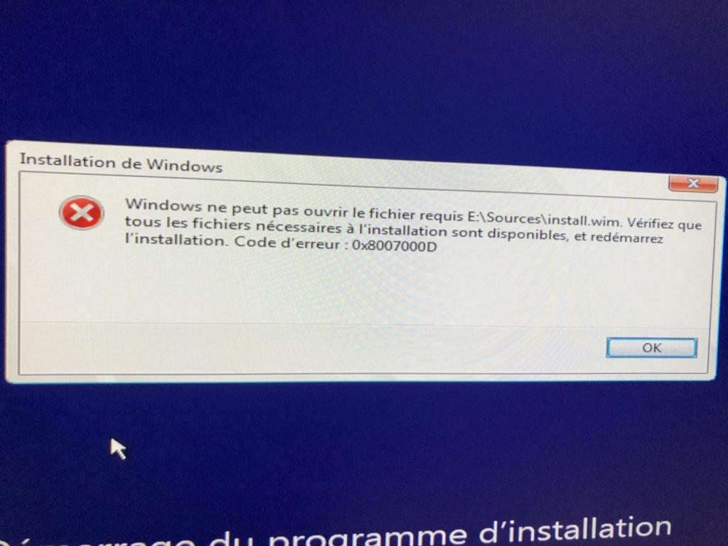 Création USB Windows 10 UEFI dans macOS Img_5110