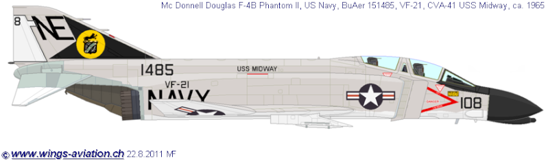 F-4 B Phantom 1/48° - VF-51 - 1972 - Début de patine. 3_24110