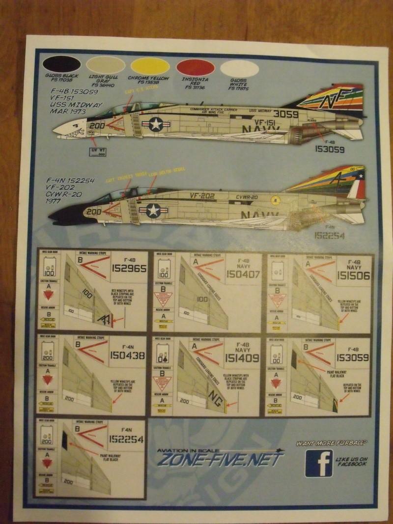 F-4 B Phantom 1/48° - VF-51 - 1972 - Début de patine. Dscf6417