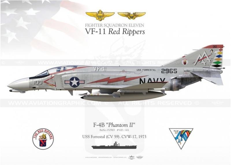 F-4 B Phantom 1/48° - VF-51 - 1972 - Début de patine. F-4b-p10