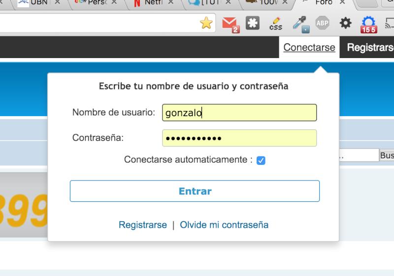 [javascript] Conexión rápida, desde una ventana al dar click en el login de la toolbar Captur13
