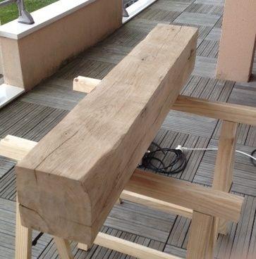 Bout de canapé en chêne Poutre12