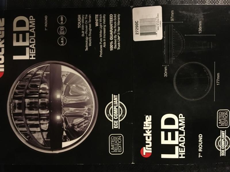"2 phares LED Truck Lite homologué Rond 7"" Img_5015"