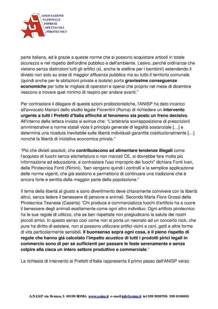 Comunicazioni Anisp contro divieti comunali 2dbldh10