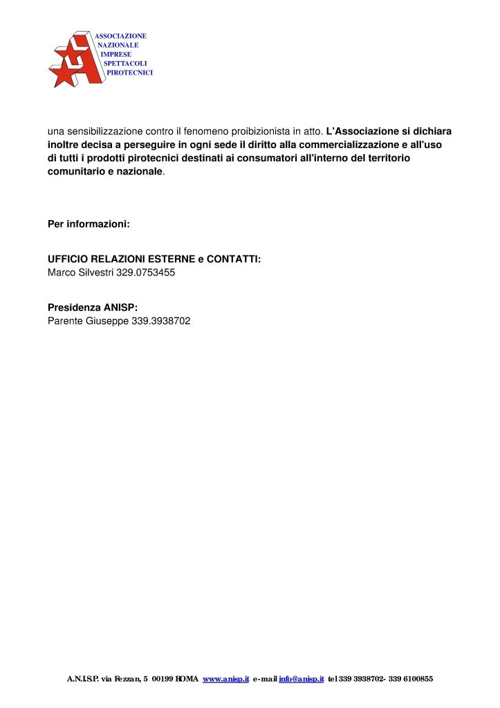 Comunicazioni Anisp contro divieti comunali Oscrhf10