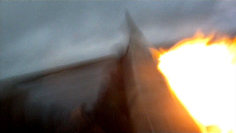 Grosse flamme à la sortie de la chambre Captur11