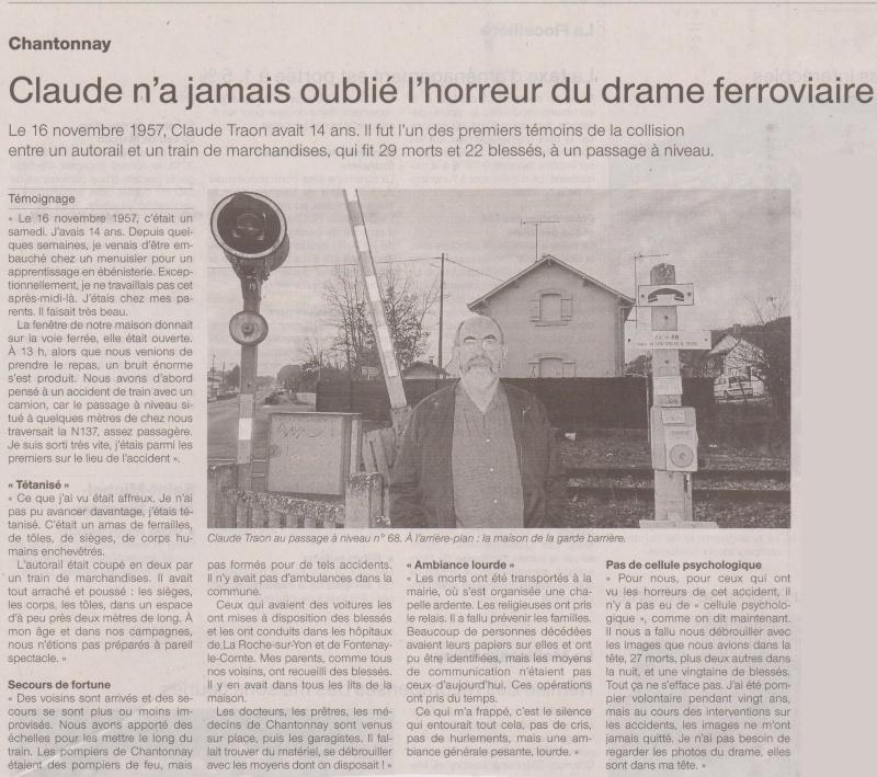 16 novembre 1957 - Catastrophe ferroviaire de Chantonnay Chanto10