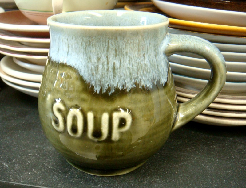 Clay Craft etc: soup mugs & bowls, canister/vase Dsc08813