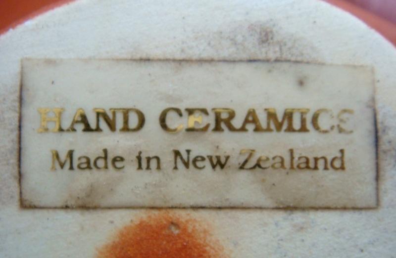Hand ceramics terracotta vase and sticker Dsc08913