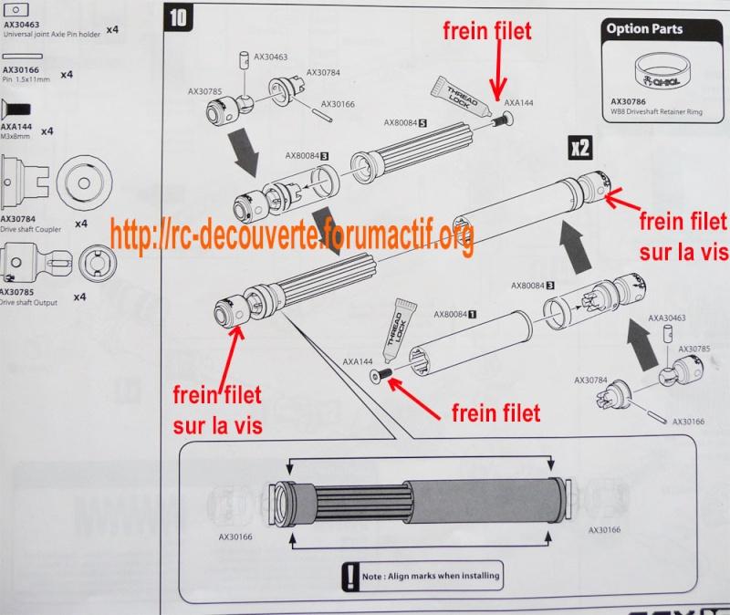 Cardan de transmission plastique ou métal sur scx10 Scale Trial et Crawler Cardan10
