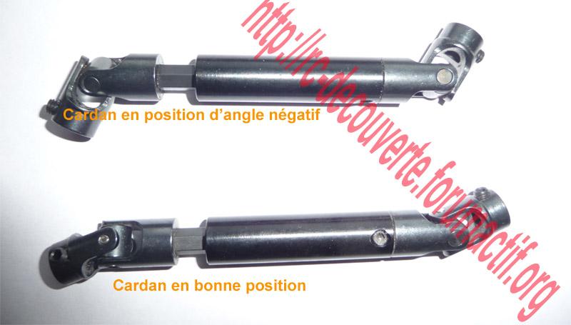 Doit on changer les Fusées et Portes Fusées d'origine en Plastique d'origine pour du Métal sur SCX10 Scale Trial Cardan11