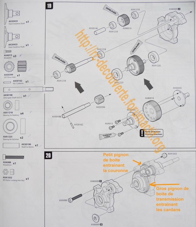Changer les pignons de boite de transmission d'origine en plastique pour des pignons en métal Pignon14