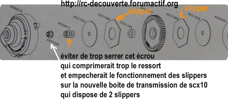 Cardan de transmission plastique ou métal sur scx10 Scale Trial et Crawler Reglag11