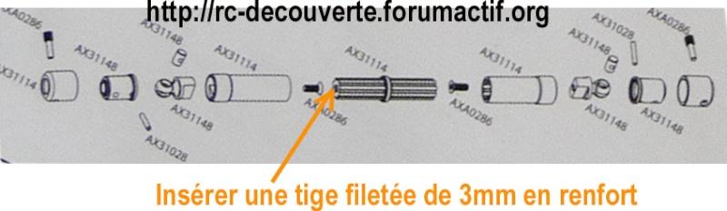 Cardan de transmission plastique ou métal sur scx10 Scale Trial et Crawler Renfor10