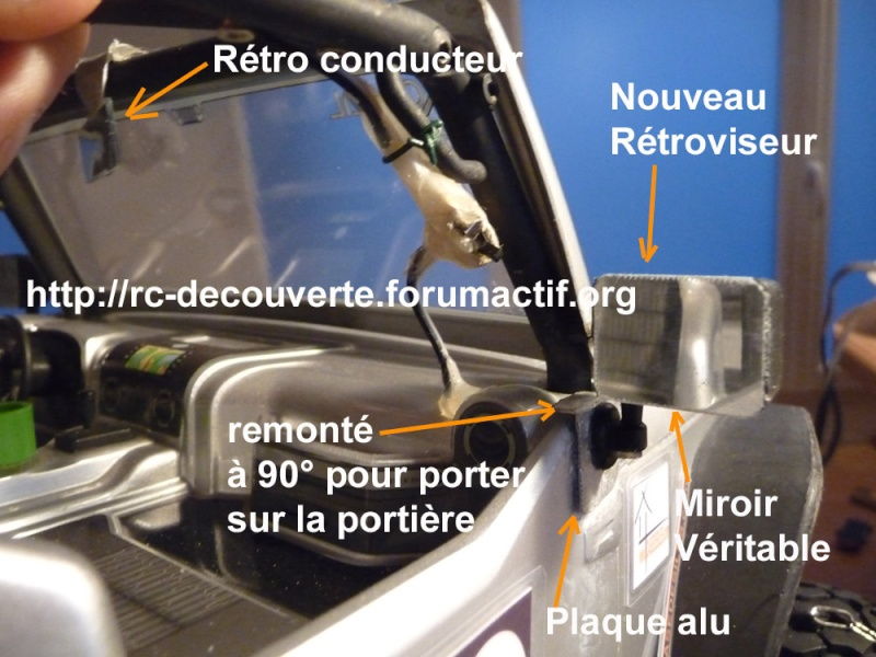 Rétroviseur arraché, Comment réparer une carrosserie Lexan ? Quelle colle utiliser ? Repapr10