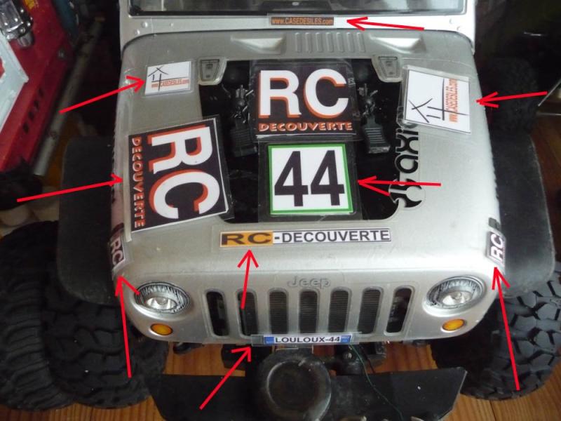 Fabriquer des stickers sur mesure pour Scale Trial 4x4 et Crawler ainsi que les plaques d'immatriculation custom et pas cher Sticke14