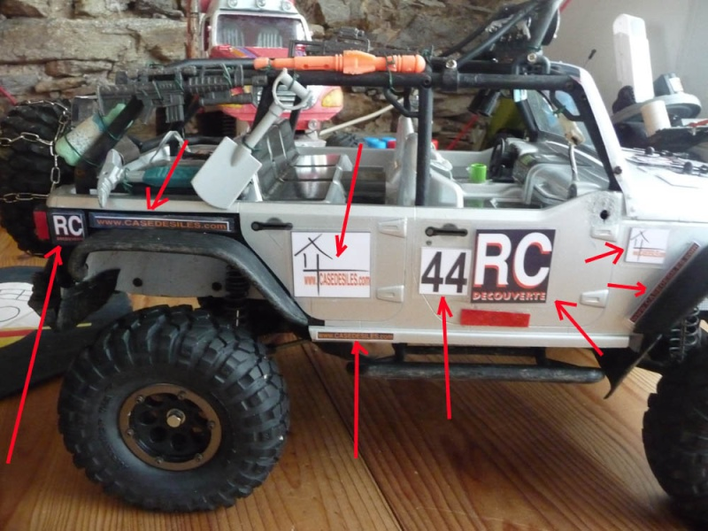 Fabriquer des stickers sur mesure pour Scale Trial 4x4 et Crawler ainsi que les plaques d'immatriculation custom et pas cher Sticke17