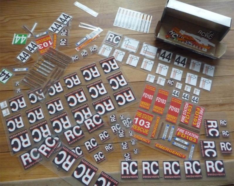 Fabriquer des stickers sur mesure pour Scale Trial 4x4 et Crawler ainsi que les plaques d'immatriculation custom et pas cher Sticke20