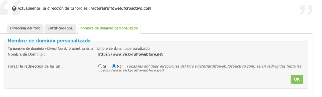 Como puedo redireccionar de nuevo mi nombre de dominio Screen10