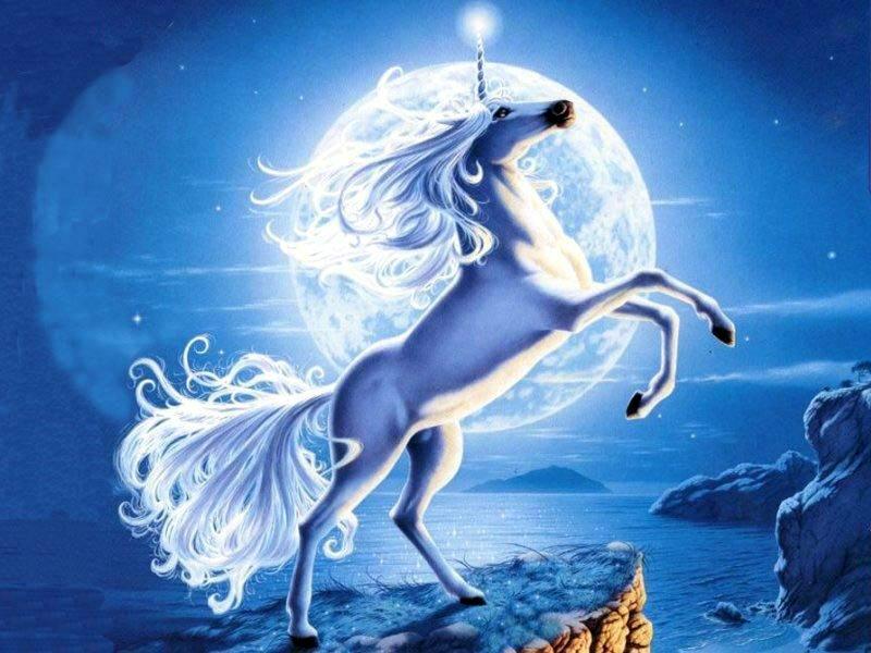 Licornes, centaures et chevaux ailés Licorn12