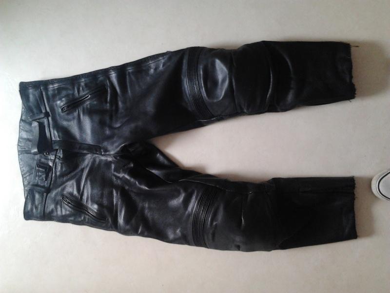 casque , combi pluie , véritable lunettes CLIMAX , pantalon cuir  2015-012