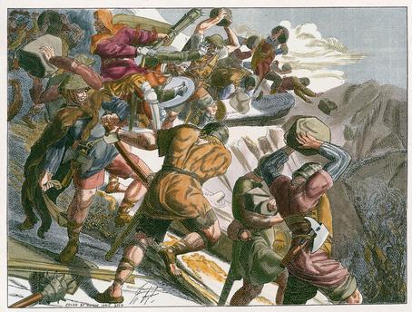 Bataille de Morgarten 15 novembre 1315 Akg39410