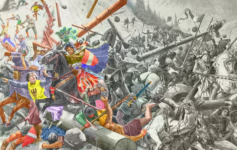 Bataille de Morgarten 15 novembre 1315 Morgar10