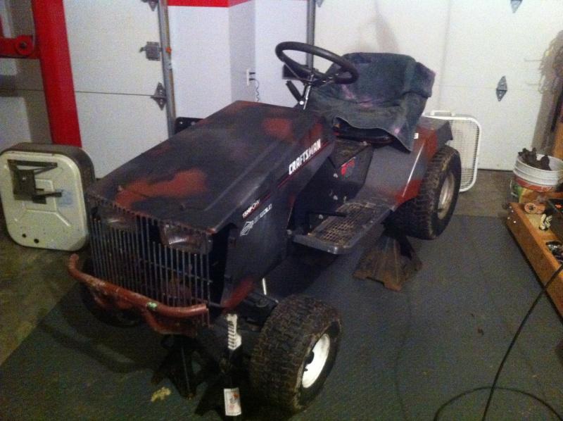 94 craftsman race/ rally/ rat rod mower Img_2514