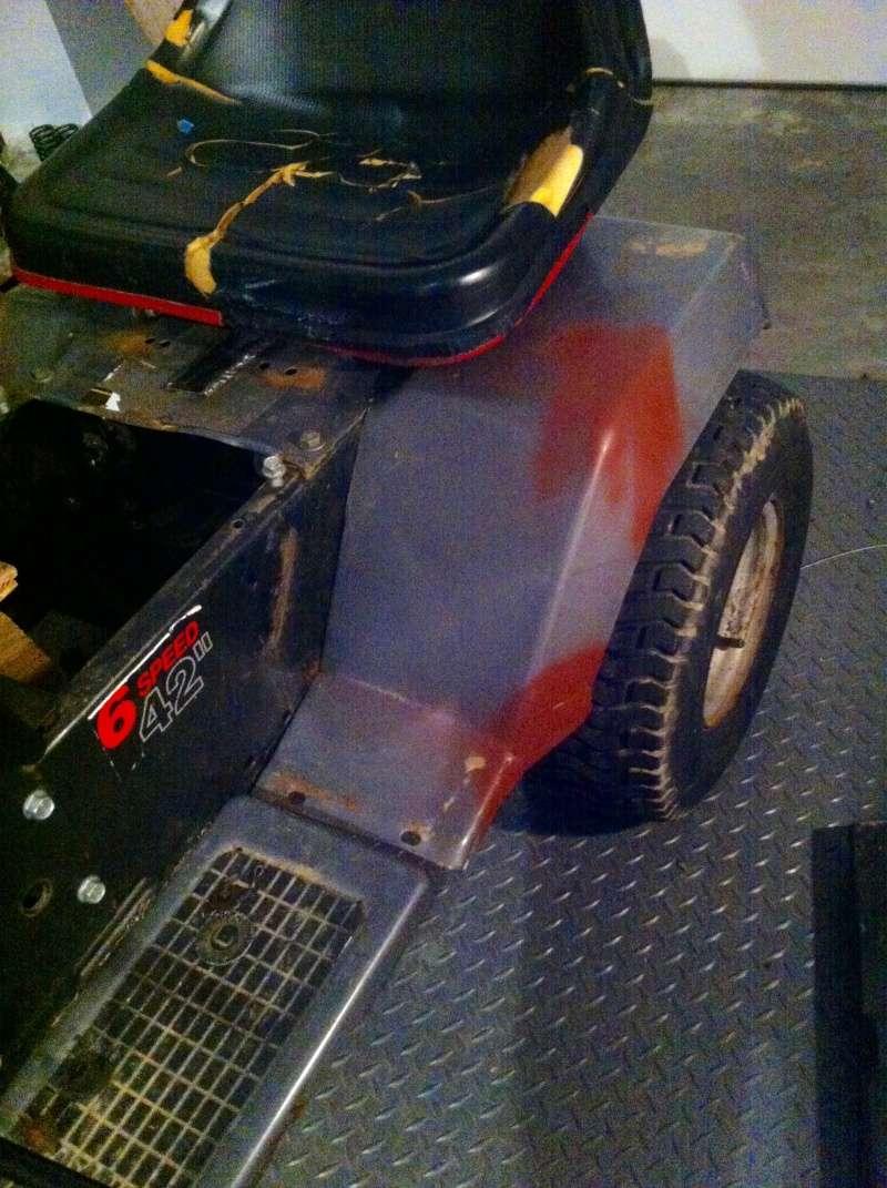 94 craftsman race/ rally/ rat rod mower Img_2516