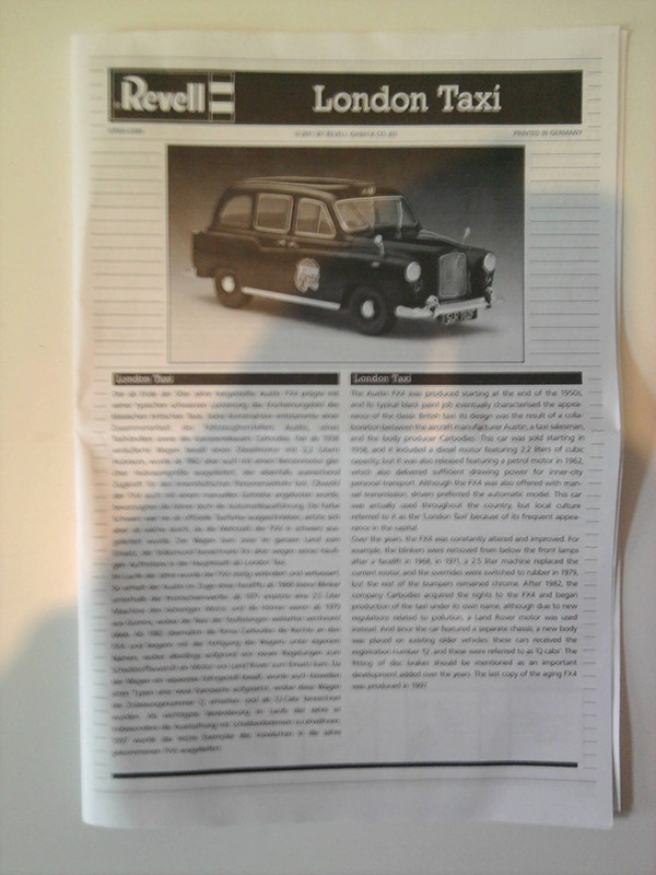 Revell London Taxi 1:24 02_10