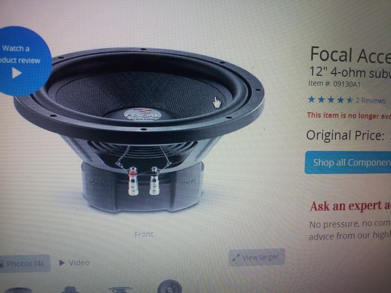 """Focal 12"""" Subwoofer (Sold) 20151115"""