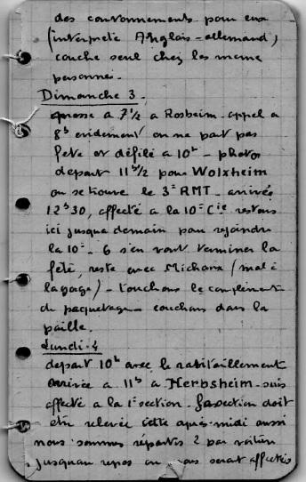 Carnet de route de Jacques Bégin III/ RMT 10ème Cie Extrai10