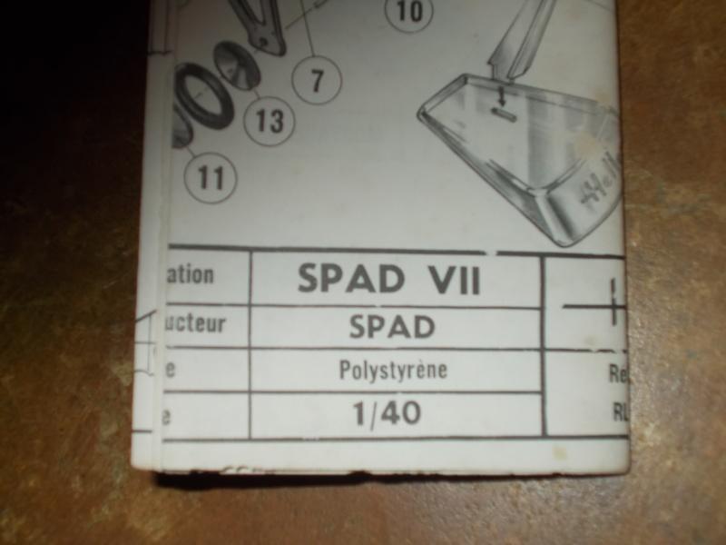 SPAD VII GUYNEMER 1/50ème Réf L 100 Spad_r10