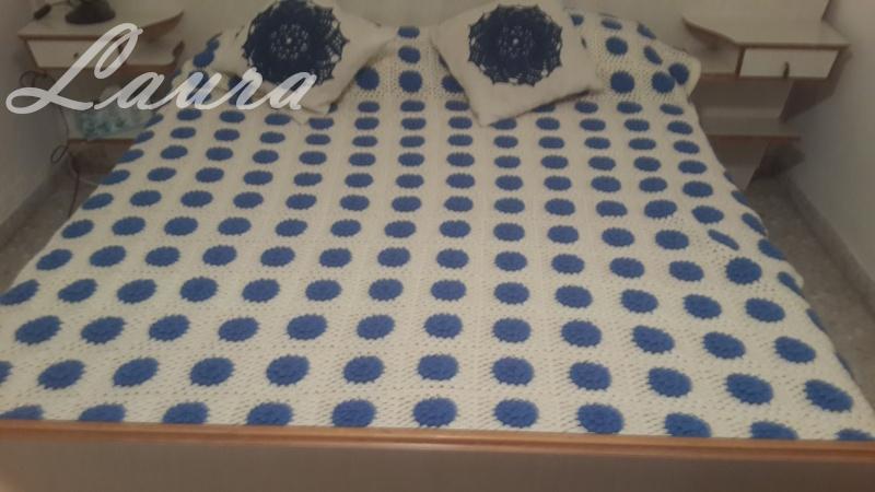 Cubre cama con grannys a crochet 20151110