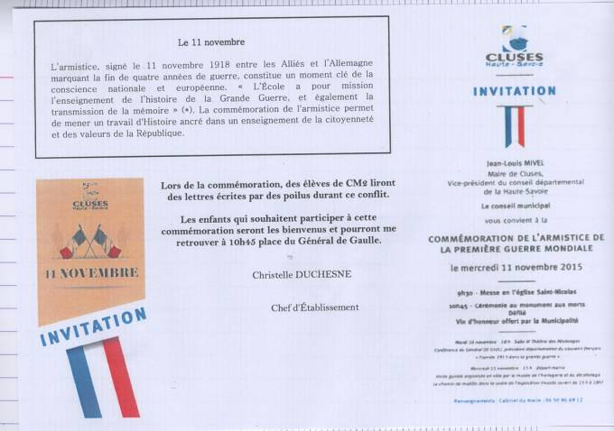 ACTIVITES DIVERSES DE LA DELEGATION HAUTE SAVOIE 11_nov14