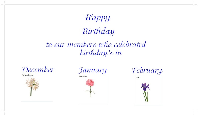 Happy Birthday December, January & February members 1920x110