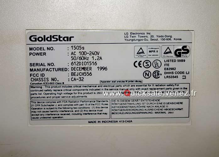 [VDS] Ecran CRT 15 pouces Goldstar 1505s de 1996 25€ Goldst11