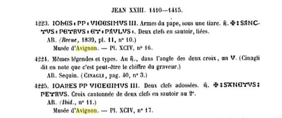 Billon  JEAN XXIII  Antipape de 1410 à 1415 Clipbo10