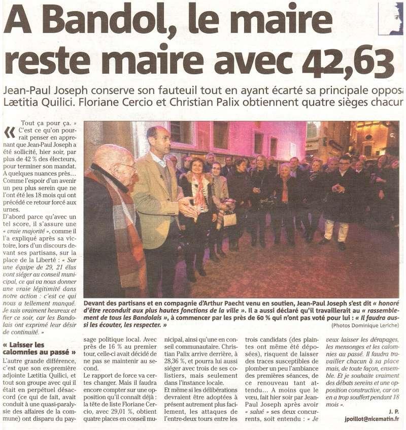 BANDOL réélection de Jean Paul JOSEPH Bandol11