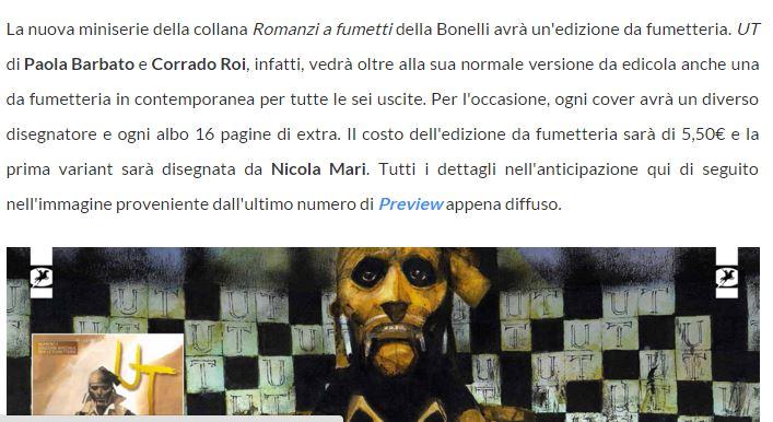 ROMANZI A FUMETTI E ONE SHOT BONELLI - Pagina 7 Ut10
