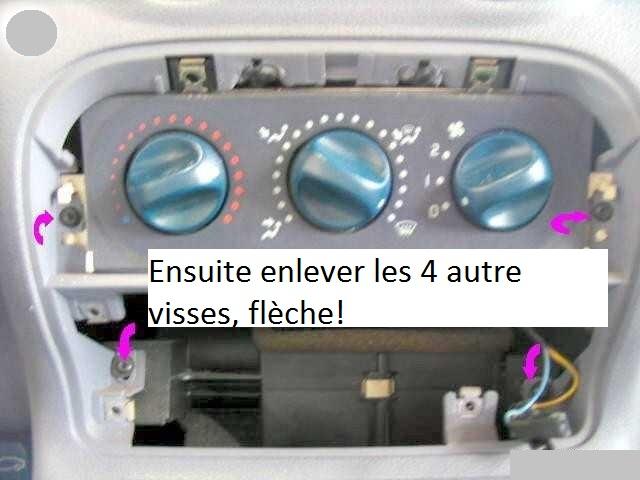 Lumière des commandes de chauffage Vis-fa10