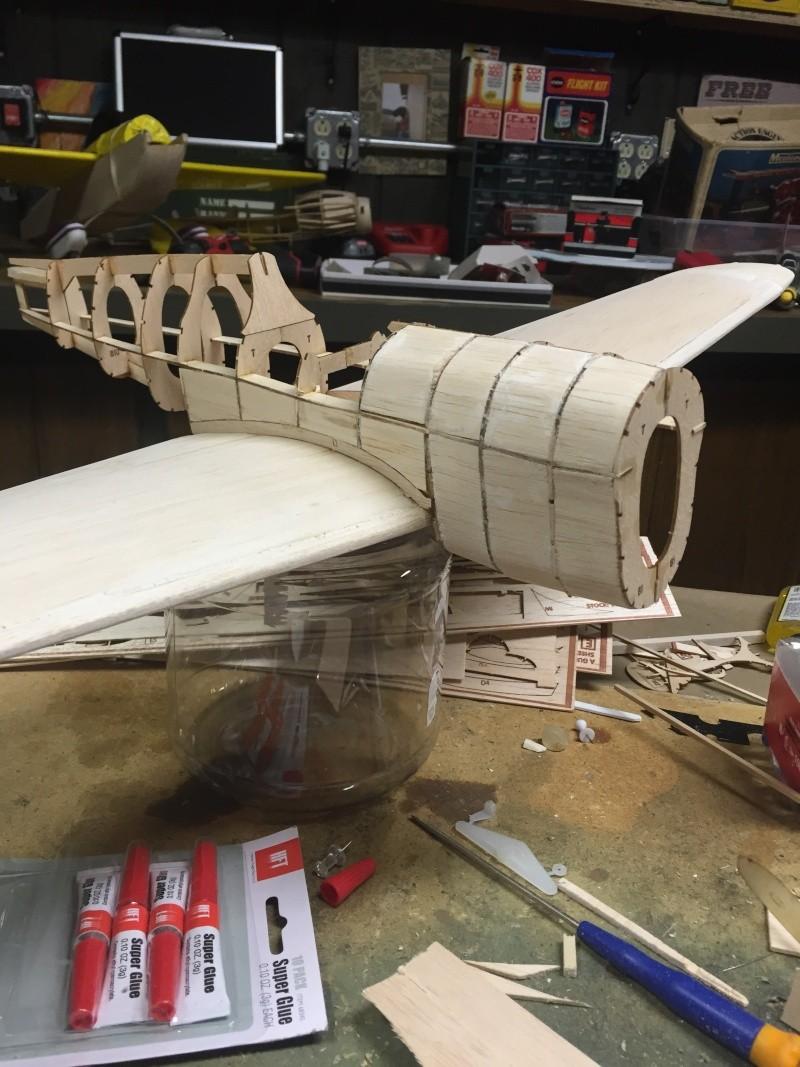 building a Guillows kit P 40 02410